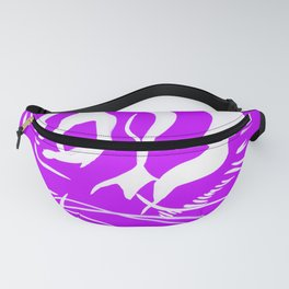 Eye of the tiger - White & Purple Fanny Pack