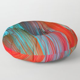 California Dreamin' - Abstract Glitch Pixel Art Floor Pillow