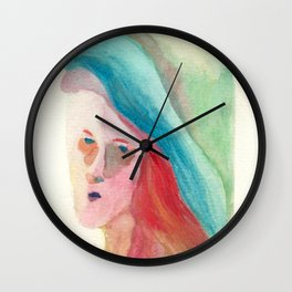 Lady from the Past Wall Clock