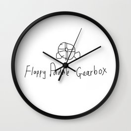 Flappy Paddle Gearbox Wall Clock