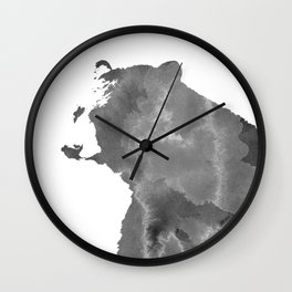 graphic bear II Wall Clock