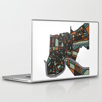 new orleans Laptop & iPad Skins featuring New Orleans by BigRedSharks