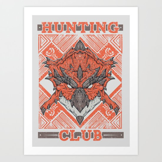 Hunting Club: Rathalos Art Print