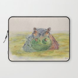 Ink Animals of Africa - Harriet Hippo Laptop Sleeve