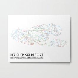 Perisher, NSW, Australia - Minimalist Trail Maps Metal Print