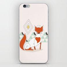 Fox in the mountain iPhone & iPod Skin