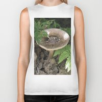 mushroom Biker Tanks featuring Mushroom by Kelsey Adams