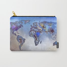 Stars world map. Blue dreams Carry-All Pouch