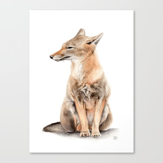 Fox Watercolor Canvas Print