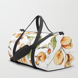 Orange Bougainvillea Illustration Duffle Bag
