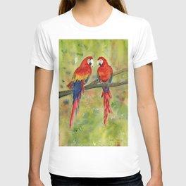 Scarlet Macaw Parrots T-shirt