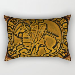 Medieval Seal of the Knights Templar Rectangular Pillow