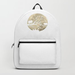 Halloween Guinea Pig Full Moon Cemetary Backpack