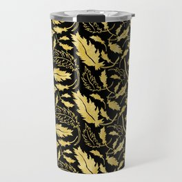 Art Deco Nouveaux Ornate Leaf Pattern Travel Mug