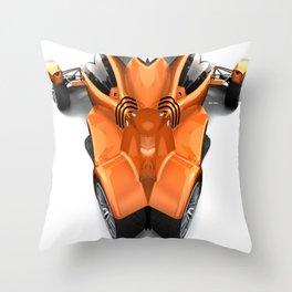 Orange Car 0945 Throw Pillow