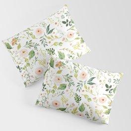 Botanical Spring Flowers Pillow Sham