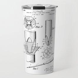 Phillips Screwdriver: Henry F. Phillips Screwdriver Patent Travel Mug