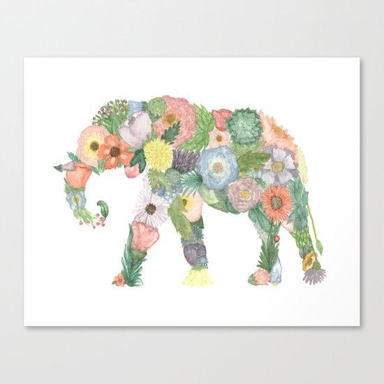 Elephlower Canvas Print
