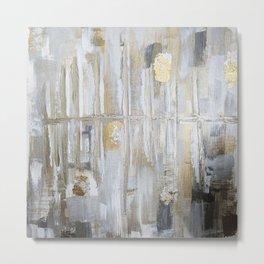 Metallic Abstract Metal Print