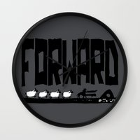 reassurance Wall Clocks featuring Forward by TehStr4ngeOnes