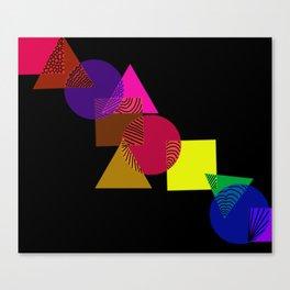 Geometric love Canvas Print
