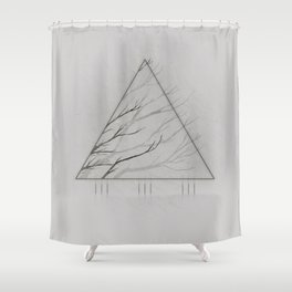 Edges of the White Shower Curtain