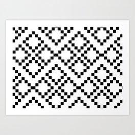 Monocrom pattern Art Print
