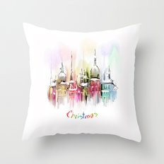 Christmas in Vienna Throw Pillow