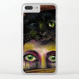 The Black Cat Clear iPhone Case