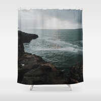 ireland Shower Curtains featuring Ireland Beach by justin flores