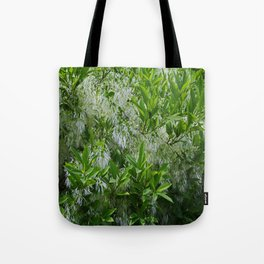 White Fringe Tree Tote Bag