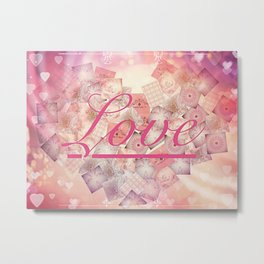 Love Letter Abstract Heart Design Metal Print