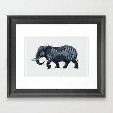 Elepham (Herd of Sheffield) Framed Art Print