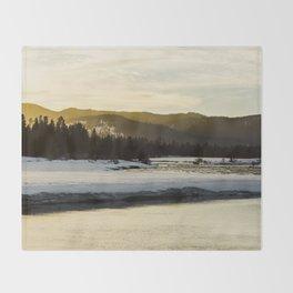 Golden Sunset Throw Blanket