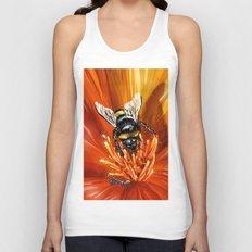 Bee on flower 1 Unisex Tank Top