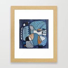 Scratched Below the Surface Framed Art Print