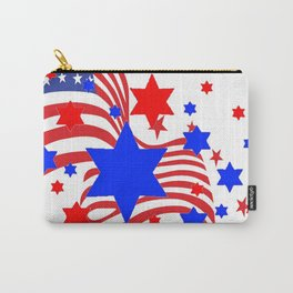 PATRIOTIC JULY 4TH AMERICAN FLAG ART Carry-All Pouch
