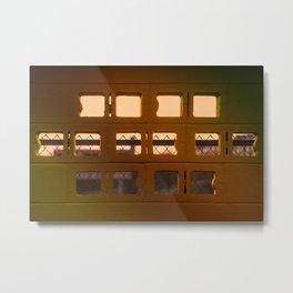 Cinderblock Sunset View Metal Print