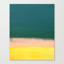 Minimal Abstract Sunset Painting Canvas Print