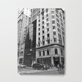 Black and White. Fifth Avenue, New York. Metal Print