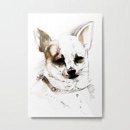 Chihuahua Watercolor Metal Print
