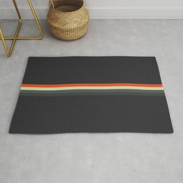 Fujitaka - Classic Dark Retro Stripes Rug