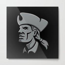 Patriot Head Metallic Icon Metal Print