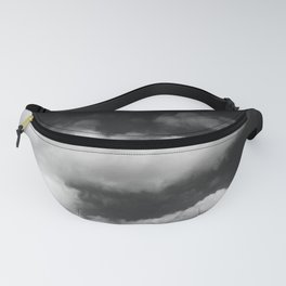 Clouds in black and white Fanny Pack