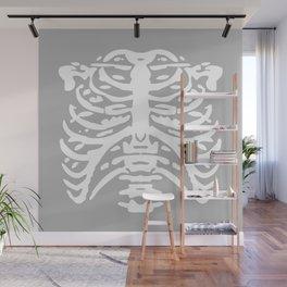 Human Rib Cage Pattern Gray 2 Wall Mural