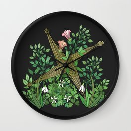 Saint Brigid's Cross in the Celtic Spring Wall Clock