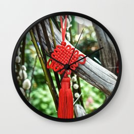 Chinese Knot (Red) Wall Clock
