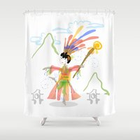 asian Shower Curtains featuring Asian Dancer by elledeegee