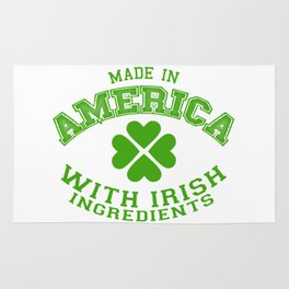 Made In America With Irish Ingredients Rug