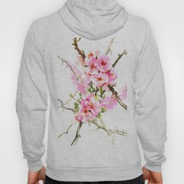 Cherry Blossom, pink floral art Hoody